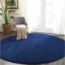 navy blue round rug navy solid round rug