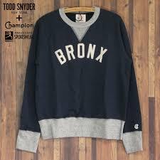 Todd Snyder Size Chart Todd Snyder X Champion Men Sweat Shirt Trainer Bronx Graphic Todd Schneider Champion