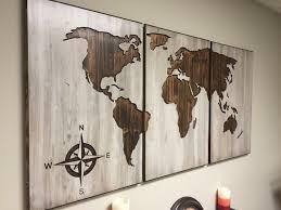 wall art world map  besttabletforme