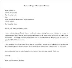 Sample Cover Letter Business Cover Letter For Business Proposal Examples
