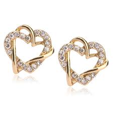 Gold Earrings Designs In Sri Lanka 5pcs Lot Fashion 18k Gold Earring Designs New Model Heart