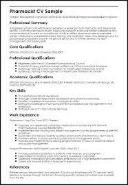 Ambulatory Pharmacist Cover Letter Sample Pharmacist Resume