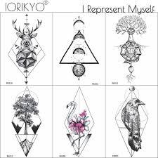 Iorikyo мода фламинго временные татуировки женщины макияж планета татуировки руки