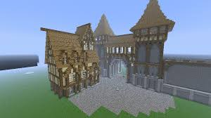 minecraft gate design.  Gate Main Entrance City With A First House Minecraft By Nosh0r  Intended Minecraft Gate Design