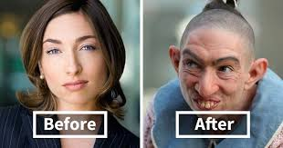 40 incredible pics of actors before and after applying makeup