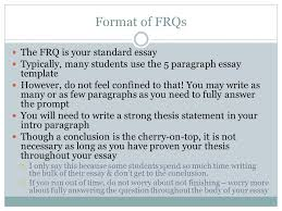 frq ap us history ppt video online  format of frqs the frq is your standard essay