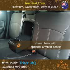 custom fit waterproof neoprene mitsubishi triton mq rear seat cover