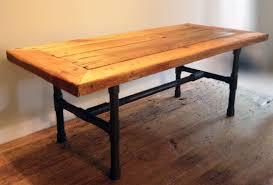 custom made reclaimed wood pipe leg coffee table