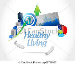 Healthy Living Chart Healthy Living Business Chart Sign Concept