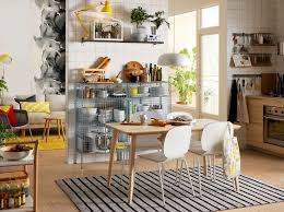 Black and white chairs living room Furniture Sets White Black And Yellow Studio Apartment With Wooden Table And White Chairs Home Design And Interior Ideas Contemporary Modern Styles Dining Room Furniture Ideas Ikea