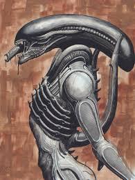 Giger Alien Design Aliens And Predators H R Gigers Alien On Brown By Avix
