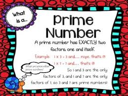 Factors Multiples Prime Composite Numbers Anchor Charts