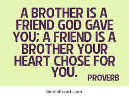 Proverb Quote Proverb photo quotes A brother is a friend god gave you a friend 16 17976
