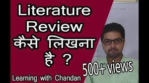 literature review writing tips for