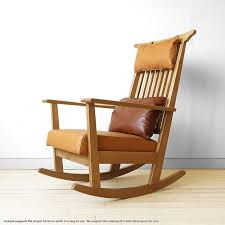 oak rocking chair oak solid wood with luxury wood oak natural wood sections and use covering material with leather cushion chair wooden chair sohie rocking