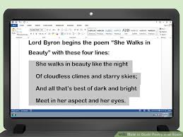 how to quote poetry in an essay pictures wikihow image titled quote poetry in an essay step 3
