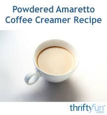 homemade powdered amaretto coffee creamer