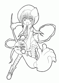 Coloring Pages Shugo Chara Anime Girls Mangaring Book Pages