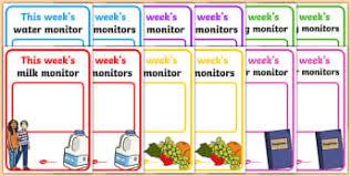 Classroom Monitors Chart 73 Memorable Classroom Job Chart Images