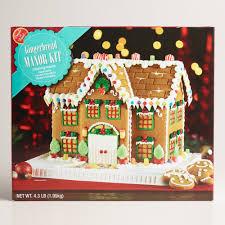 Premade Gingerbread Houses Manor Gingerbread House Kit World Market