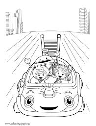 Small Picture Team Umizoomi Milli Geo Bot and Umi Car coloring page