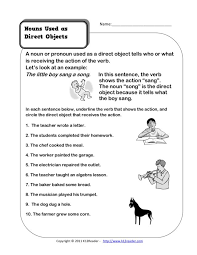 Direct Object Worksheets For Middle School Free Worksheets Library ...