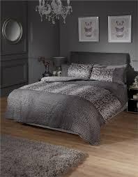 black and grey snake skin style quilt duvet cover  pillowcase