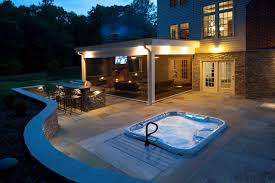 outdoor kitchen and retractable