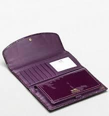Coach Madison Patent Checkbook Wallet - Plum 46728, 790, Wallets, Coach