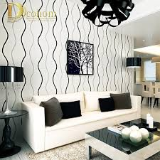 simple modern 3d stereoscopic wall paper bedroom living room walls silver black and white striped wallpaper black white style modern bedroom silver