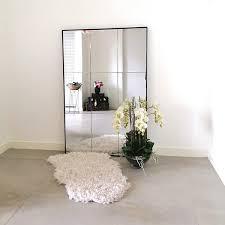 modern metal mirror 9 panel wall or