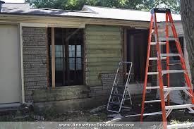 back pantry wall reframing the exterior wall removing