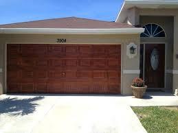 stained garage door metal faux wood stain doors finish