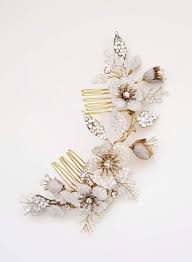 <b>Crystal</b> encrusted <b>flower and bud</b> headpiece