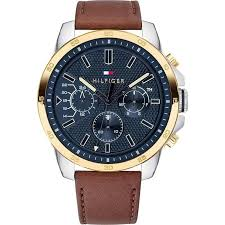 tommy hilfiger decker leather strap mens watch 1791561 hollins hollinshead