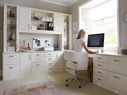 home office white. U Shaped Office Desk In White Home .