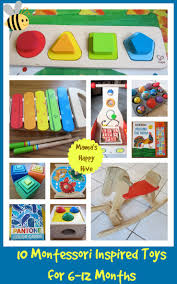 12 month montessori inspired toys 6 to 12 months mamas happy hive