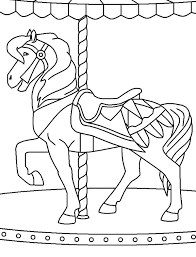 Small Picture Carousel Horses To ColorHorsesPrintable Coloring Pages Free Download