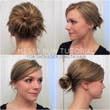 Occasion Hair Style bye bye beehive a hairstyle blog messy bun for shoulder length 7857 by wearticles.com