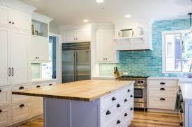 Backsplash For White Kitchen White Kitchen With Gray Backsplash