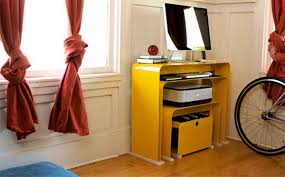desk small office space desk. Stylish Home Office Suite With Space Saving Yellow Desk Small