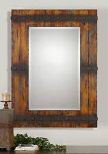 western home decor rectangular beveled wall mirror rustic on village rectangular wall art with western mirror ebay