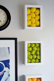 colorful kitchen wall art with fake