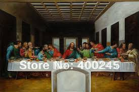 famous leonardo da vinci paintings reion the last supper arts on large canvas 100 handmade high quality in painting calligraphy from home garden