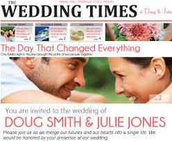 Wedding Invitation Newspaper Template Wedding Invitation Newspaper