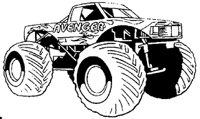 Small Picture The Magnificent Monster Truck Coloring Pages ALLMADECINE Weddings