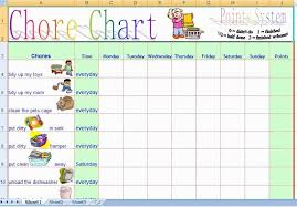 Daily Chore Chart Template The Cheapest Way To Earn