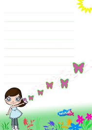 how to craft writing papers com butterfly themed writing paper