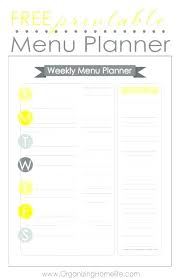 Excel Weekly Meal Planner Monthly Recipe Calendar Template Dinner Meal Planning Excel Weekly