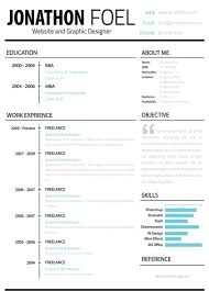 One Page Resume Template Word Pages Download Free Creative Templates